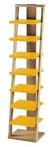 Prateleira Stairway na Cor Amarela