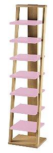 Prateleira Stairway na Cor Rosa Cristal