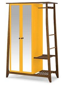 Roupeiro Multiuso Stoka com 2 Portas na Cor Amarelo