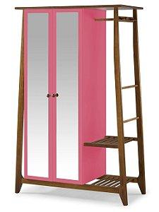 Roupeiro Multiuso Stoka com 2 Portas na Cor Pink