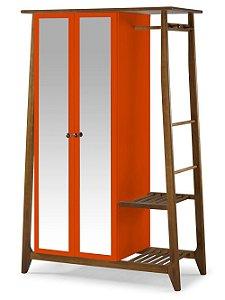 Roupeiro Multiuso Stoka com 2 Portas na Cor laranja