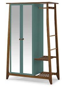 Roupeiro Multiuso Stoka com 2 Portas na Cor Azul Claro