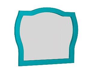 Espelho com Moldura Jungle - Azul Turqueza