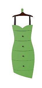 Cômoda Dress na Cor Verde Limão