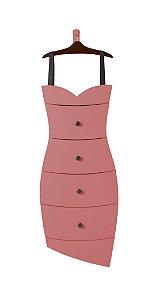Cômoda Dress na Cor Rosa New