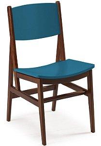 Cadeira Dumont com Acento e Encosto na Cor Azul Turqueza