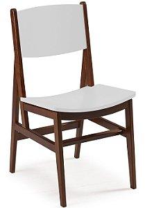 Cadeira Dumont com Acento e Encosto na Cor Branca