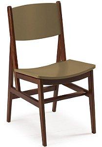 Cadeira Dumont com Acento e Encosto na Cor Marrom Claro