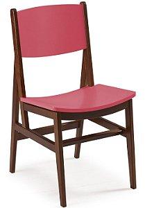 Cadeira Dumont com Acento e Encosto na Cor Pink