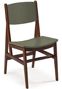 Cadeira Dumont com Acento e Encosto na Cor Cinza