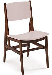 Cadeira Dumont com Acento e Encosto na Cor Rosa