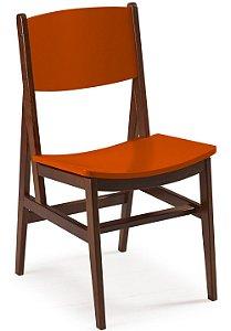 Cadeira Dumont com Acento e Encosto na Cor laranja