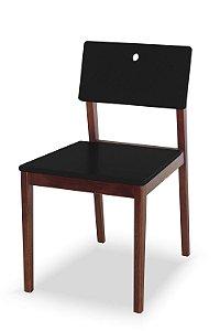 Cadeira Flip com Acento e Encosto na Cor Preta