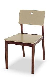 Cadeira Flip com Acento e Encosto na Cor Nude