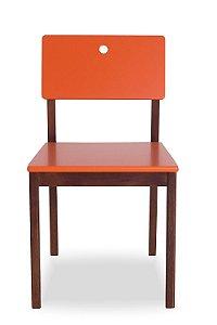 Cadeira Flip com Acento e Encosto na Cor Laranja