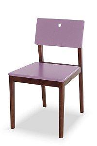 Cadeira Flip com Acento e Encosto na Cor Lilás