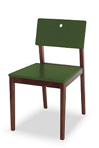 Cadeira Flip com Acento e Encosto na Cor Verde Oliva