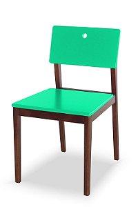 Cadeira Flip com Acento e Encosto na Cor Verde