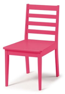Cadeira Imperial com Encosto Ripado e Acento na Cor Pink