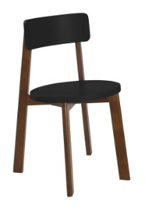Cadeira Lina com Acento e Encosto na Cor Preta