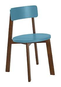 Cadeira Lina com Acento e Encosto na Cor Azul Turqueza