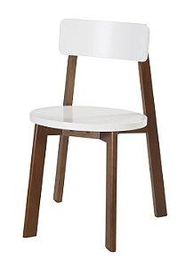 Cadeira Lina com Acento e Encosto na Cor Branca