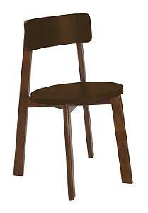 Cadeira Lina com Acento e Encosto na Cor Marrom Chocolate