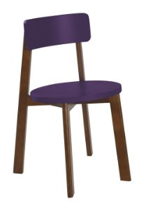 Cadeira Lina com Acento e Encosto na Cor Roxo
