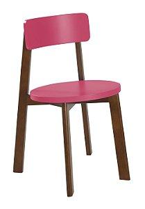Cadeira Lina com Acento e Encosto na Cor Pink