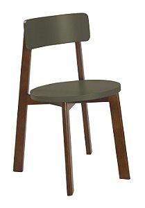 Cadeira Lina com Acento e Encosto na Cor Cinza