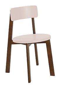 Cadeira Lina com Acento e Encosto na Cor Rosa