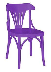 Cadeira Opzione em Madeira Maciça na Cor Roxa