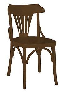 Cadeira Opzione em Madeira Maciça na Cor Marrom Chocolate