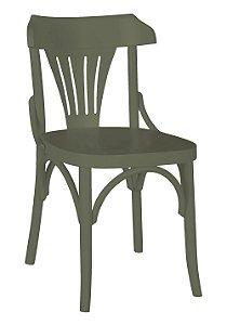 Cadeira Opzione em Madeira Maciça na Cor Cinza