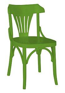 Cadeira Opzione em Madeira Maciça na Cor Verde Limão
