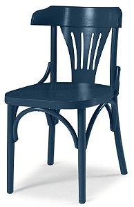 Cadeira Opzione em Madeira Maciça na Cor Azul Marinho