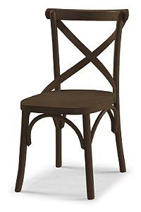 Cadeira X - Marrom Chocolate