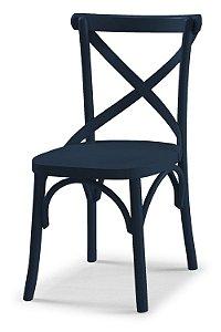 Cadeira X - Azul marinho