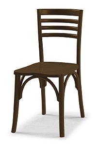 Cadeira Samara na Cor Marrom Chocolate