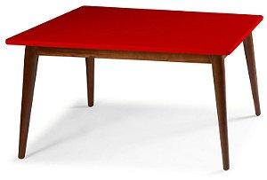 Mesa de Jantar Novita na Cor Vermelha em vários tamanhos confira: