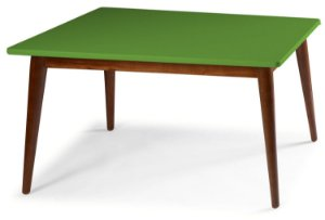 Mesa de Jantar Novita na Cor Verde Limão em vários tamanhos confira: