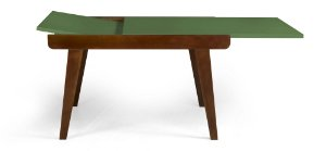 Mesa de Jantar Extensível Maxi na Cor Verde Oliva