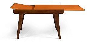 Mesa de Jantar Extensível Maxi na Cor laranja