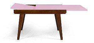 Mesa de Jantar Extensível Maxi na Cor Rosa Cristal