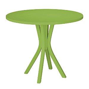 Mesa de Jantar Felice com 90cm de Diâmetro na Cor Verde Limão