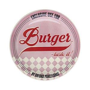 Prato Burger Raso com 26cm de Diamentro, Tematicos dos Anos 50 - Pink