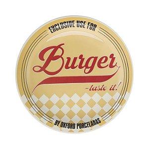 Prato Burger Raso com 26cm de Diamentro, Tematicos dos Anos 50 - Yellow