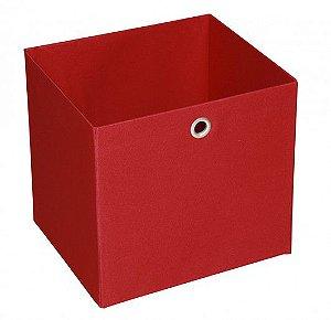 Caixa Organizadora Tamanho Médio na Cor Vermelha