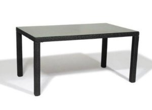 Mesa de Aluminio  Nibe Revestida com Fibra Sintética - Marrom