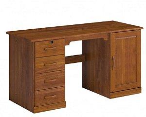 Escrivaninha com 4 Gavetas e 1 Porta Office - Imbuia